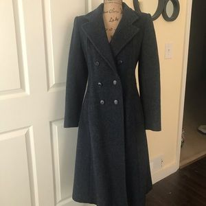 Vintage navy wool coat.